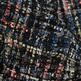 Stofa multicolorata in nuante inchise