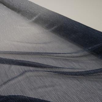 Tul plisat cu fir metalic in degrade Bleumarin Gri