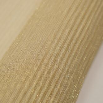 Tul plisat cu fir metalic Auriu